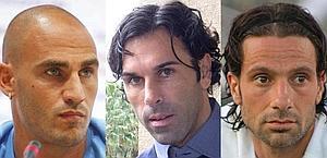 Paolo Cannavaro, Matteo Gianello e Gianluca Grava. Ansa