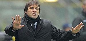 Antonio Conte, campione d'Italia con la Juve. Ansa