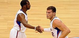 Blake Griffin e Chris Paul, stelle dei Los Angeles Clippers. Reuters