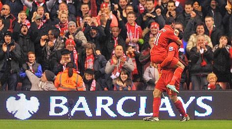 Suarez e Sterling, entrambi in gol contro il Sunderland. Afp