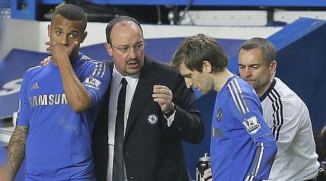 Benitez con Bertrand e Marin. Ap