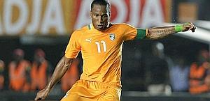 Didier Drogba, 35 anni, stella della Costa D'Avorio. Ap