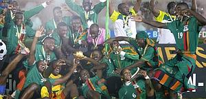 Lo Zambia vincitore dell'ultima edizione. Ap