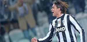 Alessandro Matri esulta dopo il quarto gol stagionale. LaPresse