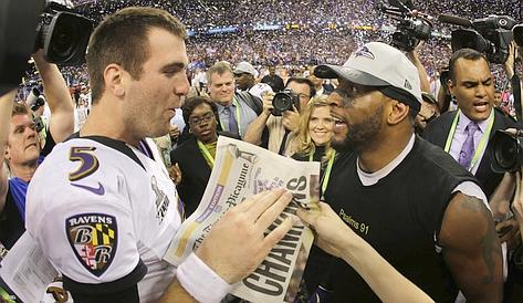 Flacco e Lewis. Ap