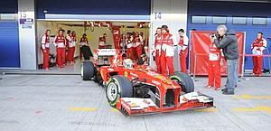Felipe Massa con la Ferrari F138 a Jerez.