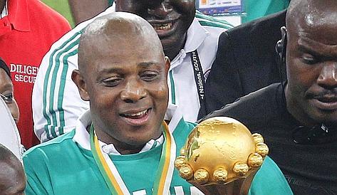 Stephen Keshi, tecnico della Nigeria he ha vinto la Coppa d'Africa. Reuters