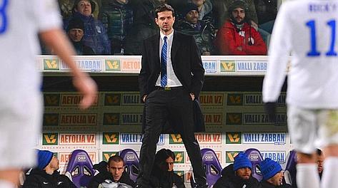 Andrea Stramaccioni, tecnico dell'Inter. Afp