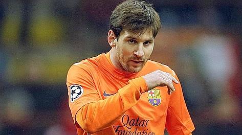 Leo Messi, insolitamente abulico a S. Siro. Ap