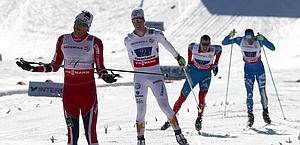 L'arrivo allo sprint: Ustiugov (3°) precede Hofer. Ap
