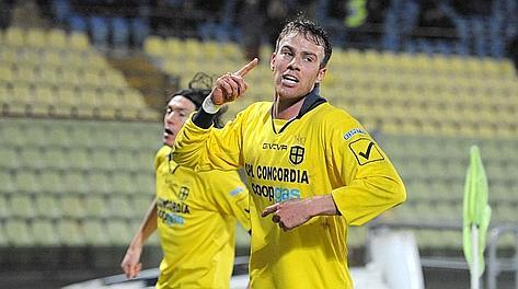 Francesco Stanco, al quarto gol stagionale. Lapresse