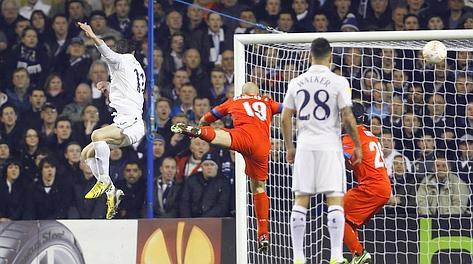 La rete dell'1-0 di Gareth Bale. Ap
