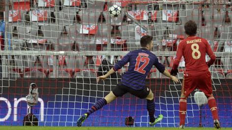 Il gol-partita, firmato dal francese Giroud. Afp