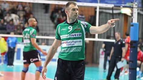 Nikola Grbic, 39 anni, palleggiatore e guida di Cuneo. Tarantini
