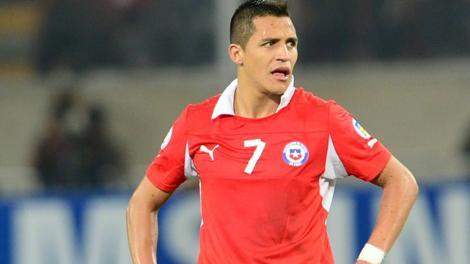 Alexis Sanchez, 24 anni, di proprietà del Barcellona, con la maglia del Cile. Afp