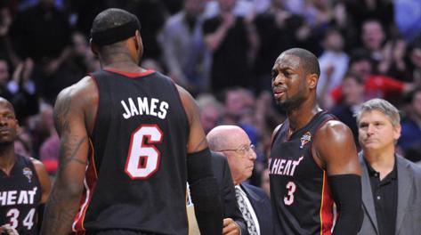 LeBron James e Dwyane Wade, anima di Miami. Reuters