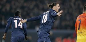 Ibrahimovic esulta dopo l'1-1. Reuters