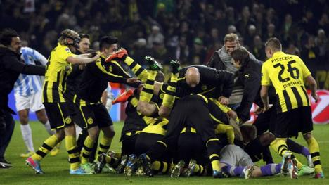 Gioia Borussia dopo il fischio finale. Reuters