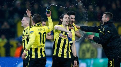 La festa finale del Borussia. Ap