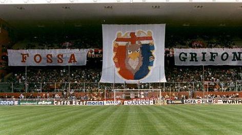 ll tifo del Genoa. Archivio
