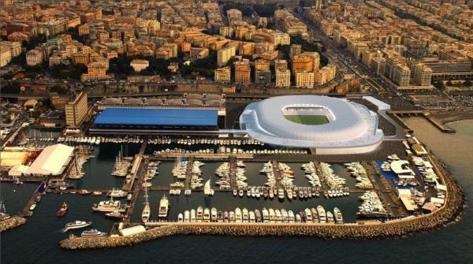 Il progetto del nuovo stadio blucerchiato. Ansa