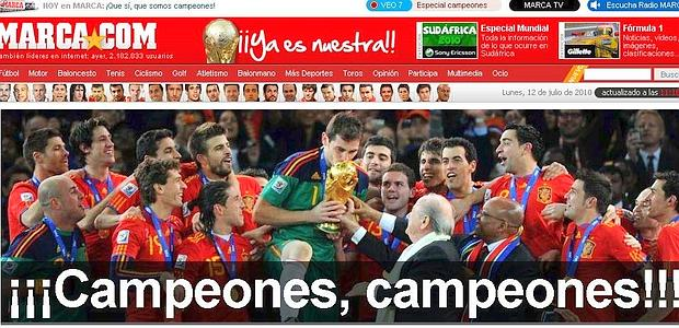 """Stampa spagnola a tutta """"Roja""""E la festa è appena iniziata"""