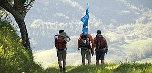 I ragazzi di Francigena XXI in cammino lungo l'Italia