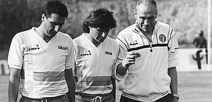 Bruno Conti tra Scirea e Bearzot in Nazionale. Ansa