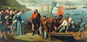 Garibaldi e i Mille partono da Quarto