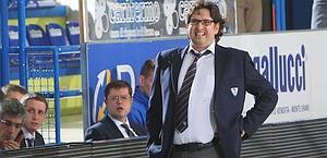 Andrea Trinchieri, allenatore dell'anno per la seconda stagione di fila. Ciam/Cast