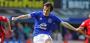 Leighton Baines, 26 anni, talento dell'Everton. Afp