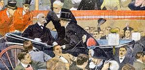 L'assassinio di Umberto I (copertina Domenica del Corriere)