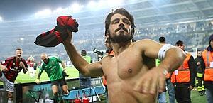 Gennaro Gattuso durante la festa-Scudetto. Lapresse