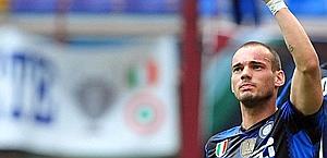 Wesley Sneijder , protagonista con l'Inter di Mourinho. Afp
