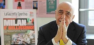 Adriano Galliani, ospite in Gazzetta. Bozzani