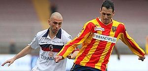 Il difensore del Lecce, Fabiano, è pronto a firmare con l'Aek. Ansa