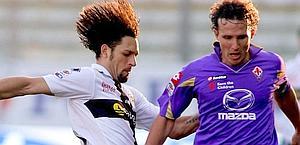 Gianluca Comotto con la Fiorentina: è del Cesena. Lapresse