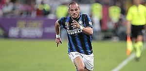 Wesley Sneijder, 26 anni, è il trequartista dell'Inter. Eidon