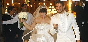 Sthefany e Pato il 7 luglio 2009, il giorno delle nozze. Epa