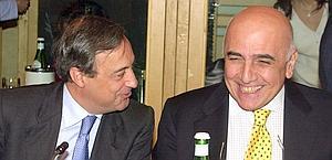 Florentino Perez e Adriano Galliani. Ap