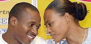 Marion Jones e Tim Montgomery in una foto del 2002.