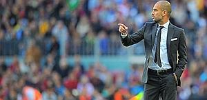 Josep Guardiola, 40 anni, � il tecnico del Barcellona dal luglio 2008. Afp