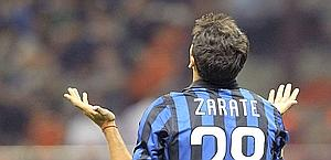 Mauro Zarate, 24 anni, assai deludente in nerazzurro. Reuters