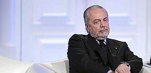 Aurelio De Laurentiis, presidente del Napoli. LaPresse