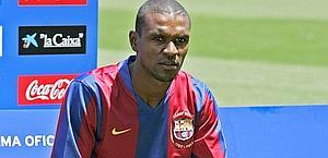 Eric Abidal, 32 anni. Afp