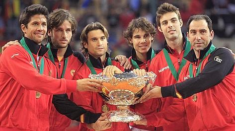 La Spagna di Nadal e Ferrer campione 2011. LaPresse