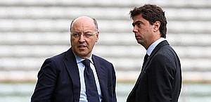 The General Manager Marotta and President Agnelli. Lapresse