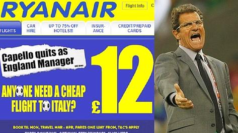 ryanair capello