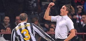Alessandro Matri dopo il gol. LaPresse