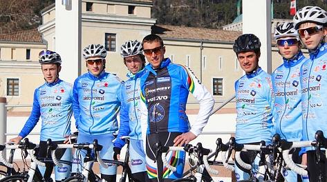 Maurizio Fondriest prima della partenza. Foto Jacopo Salvi